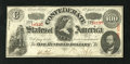 Confederate Notes:1863 Issues, T56 $100 1863. This is a lightly circulated example. It has nicecolor and the frame line only touches the edge in the upper...