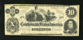 Confederate Notes:1862 Issues, CT46/344A $10 1862. This problem free counterfeit exhibits soundedges and paper for the grade. It is a faithful reproductio...
