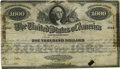 Hessler X130D $1000 Five-Twenties of 1862 Bond Fine. A fantastically rare bond which lacks even a description in the Hes...
