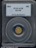 California Fractional Gold: , 1864 50C BG-918