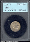 Additional Certified Coins: , 1868 3CN
