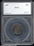 Additional Certified Coins: , 1859 25C