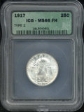 Additional Certified Coins: , 1917 25C TYPE 2, FH