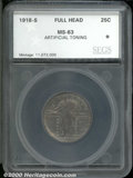 Additional Certified Coins: , 1918-S 25C