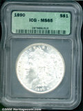 Additional Certified Coins: , 1890 S$1