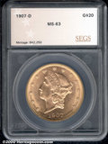 Additional Certified Coins: , 1907-D $20
