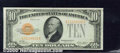 Small Size Gold Certificates:Small Size, 1928 $10 Gold Certificate, Fr-2400, Choice CU. Evenly centered ...