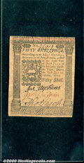 Colonial Notes:Pennsylvania, October 1, 1773, 50s, Pennsylvania, PA-170, XF. Slightly uneven...