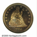 Proof Seated Quarters: , 1882 25C