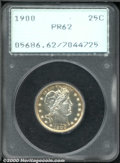 Proof Barber Quarters: , 1900 25C