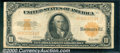 Large Size Gold Certificates:Large Size, 1922 $10 Gold Certificate, Fr-1173, Fine. The top margin is clo...