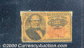 Fractional Currency: , 1874-1876 25c Fifth Issue, Walker, Fr-1308, G-VG. The paper is ...