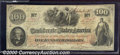 Confederate Notes:1862 Issues, 1862 $100 J.C. Calhoun on left; Slaves weeding Cotton in center...