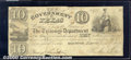 Miscellaneous:Republic of Texas Notes, $10, The Government of Texas, Houston, 9/1/1838, H-17, signed b...