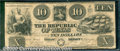 Miscellaneous:Republic of Texas Notes, $10, The Republic of Texas, 1840, A-5, VG-Fine. The note is wel...
