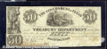 Miscellaneous:Republic of Texas Notes, $50, The Government of Texas, Houston, 1839, H-21, XF. The pap...