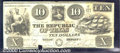 Miscellaneous:Republic of Texas Notes, $10, The Republic of Texas, 2/1/1840, A-5, XF-AU. A bright and ...