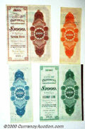 Stocks, Bonds And Checks: , Set of 4 Bonds of Different Colors--City of Providence, State o...