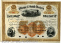 Stocks, Bonds And Checks: , Chicago and South Western Railway Co., Stock, Brown-Black, Oran...