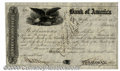Stocks, Bonds And Checks: , Bank of America, New York, Stock, 1858. This is an early engrav...