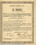 """Stocks, Bonds And Checks: , Early Dutch Stock related to an American Bank by the name of """"B..."""