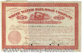 Stocks, Bonds And Checks: , White Water Railroad Co., Preferred Stock, Cherry-Red, 1878. ...