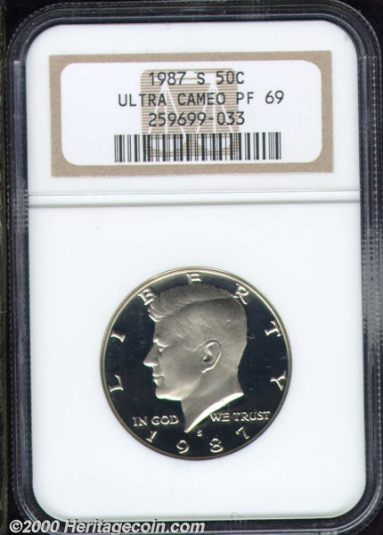 1987-S Proof Kennedy Half Dollar Deep Cameo!