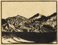 Paintings, FRANK REDLINGER (1909-1936). Funeral Range (Death Valley), 1932. Block print. 8 1/2in. x 10 3/4in.. Signed and dated low... (Total: 2 )