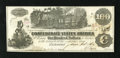 "Confederate Notes:1862 Issues, T39 $100 1862. Cr. 291 PF-9 This pleasing example of the ""straightsteam"" type has a couple Savannah interest paid stamps. ..."