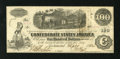 Confederate Notes:1862 Issues, T40 $100 1862. Cr. 298 PF-1 This note carries Jackson andMontgomery interest stamps on the back. About Uncirculated....