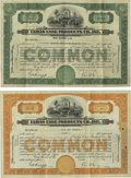 Cuban Cane Products Co., Inc. $1000 Bond of 1930. Thirteen Examples. VF, pinholes Cuban Cane Products Co., Inc. Stock Ce...