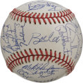 Autographs:Baseballs, 1992 NL All-Star Team Signed Baseball. The ONL (White) baseballpresented here carries 32 crisp blue ink signatures from the...