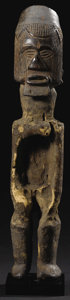 African: , Teke (Democratic Republic of Congo). Power Figure. Wood. Height: 12 7/8 inches Width: 2 1/2 inches Depth: 3 1/4inches. T...