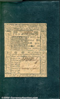 Colonial Notes:Delaware, January 1, 1776, 10s, Delaware, DE-79, Fine-VF. The end margins...