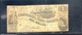 Confederate Notes:1862 Issues, 1862 $1 Steamship at Sea; Lucy Holcombe Pickens on right; Liber...