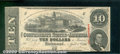 Confederate Notes:1863 Issues, 1863 $10 State Capitol at Columbia, SC; R.M.T. Hunter, T-59, AU...