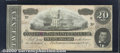 Confederate Notes:1864 Issues, 1864 $20 State Capitol at Nashville, TN; A.H. Stephens on right...