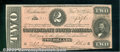Confederate Notes:1864 Issues, 1864 $2 Judah P. Benjamin, T-70, AU. A bright note with good co...
