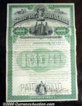 Stocks, Bonds And Checks: , State of Louisiana, 1892 $1000 bond, Green-Black, signed by Gov...