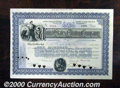 Stocks, Bonds And Checks: , United States Miming Company, Stock, Blue-Black, 1899, American...