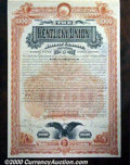 Stocks, Bonds And Checks: , Kentucky Union Railway Co., Bond, Brown-Black, 1888. Nice graph...