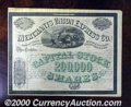 Stocks, Bonds And Checks: , Merchants Union Express Co., 1868. Very important express compa...