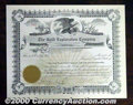 Stocks, Bonds And Checks: , The Gold Exploration Company, Colorado, Stock Certificate, AU. ...