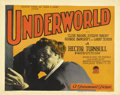 "Movie Posters:Crime, Underworld (Paramount, 1927). Title Lobby Card (11"" X 14"")...."