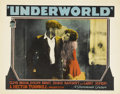 "Movie Posters:Crime, Underworld (Paramount, 1927). Lobby Card (11"" X 14"")...."