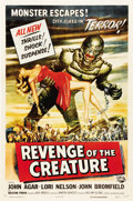 "Movie Posters:Science Fiction, Revenge of the Creature (Universal International, 1955). One Sheet (27"" X 41"")...."