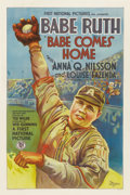 "Movie Posters:Sports, Babe Comes Home (First National, 1927). One Sheet (27"" X 41"") StyleA...."