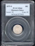 Seated Dimes: , 1875-S 10C