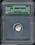 Proof Roosevelt Dimes: , 1993-S 10C SILVER, DC