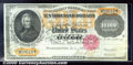 Large Size Gold Certificates:Large Size, 1900 $10,000 Gold Certificate, Fr-1225, Ch CU+. This note was n...
